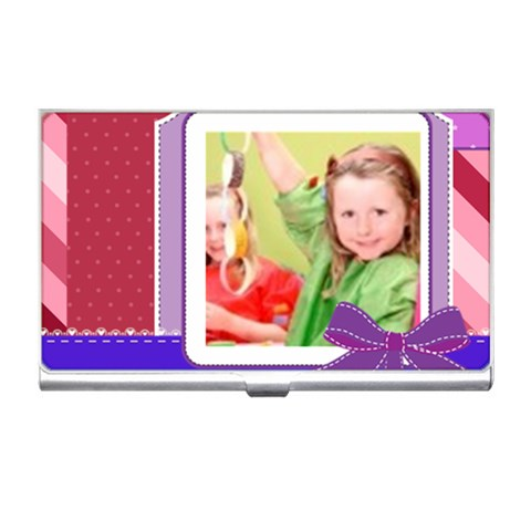 Kids By Mac Book   Business Card Holder   76guqmby732m   Www Artscow Com Front