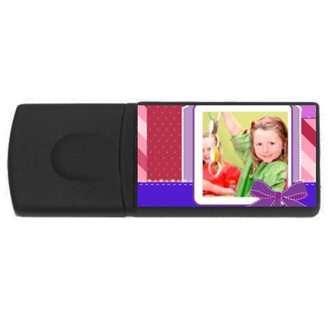 Kids By Mac Book   Usb Flash Drive Rectangular (1 Gb)   Rpbuwlr3l32a   Www Artscow Com Front