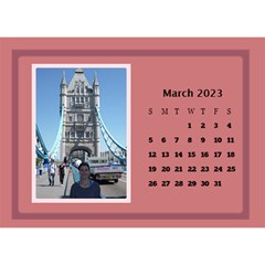 Shades Of Red Desktop Calendar (8 5x6) By Deborah   Desktop Calendar 8 5  X 6    5w5ovvh3kwzo   Www Artscow Com Mar 2017
