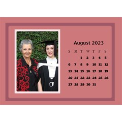 Shades Of Red Desktop Calendar (8 5x6) By Deborah   Desktop Calendar 8 5  X 6    5w5ovvh3kwzo   Www Artscow Com Aug 2017