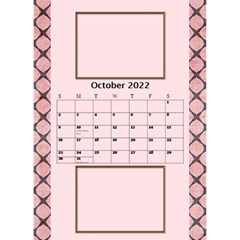 Tones Of Red Desktop Calendar By Deborah   Desktop Calendar 6  X 8 5    J6qjahdabu6b   Www Artscow Com Oct 2017