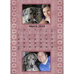 Tones Of Red Desktop Calendar By Deborah   Desktop Calendar 6  X 8 5    J6qjahdabu6b   Www Artscow Com Mar 2017