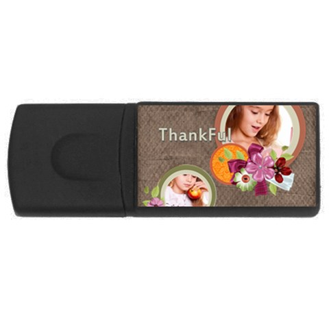 Thankful By Joely   Usb Flash Drive Rectangular (2 Gb)   Iyhgcgca18rz   Www Artscow Com Front