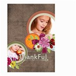 thankful - Small Garden Flag (Two Sides)