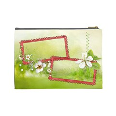 Something Beautiful Cosmetic Bag (l) By Elena Petrova   Cosmetic Bag (large)   O92m57hv66o5   Www Artscow Com Back