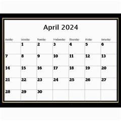 My Black And Gold  Wall Calendar 11x8 5 By Deborah   Wall Calendar 11  X 8 5  (12 Months)   2z4kb1bscg6y   Www Artscow Com Apr 2017