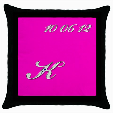 Katie1 By Sherri Goldstein   Throw Pillow Case (black)   Kev8wgzftp7l   Www Artscow Com Front