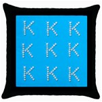 Katie5 - Throw Pillow Case (Black)