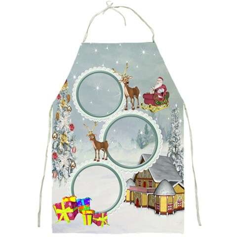Christmas Apron 1 By Snackpackgu   Full Print Apron   Mz7hmquvjy8l   Www Artscow Com Front