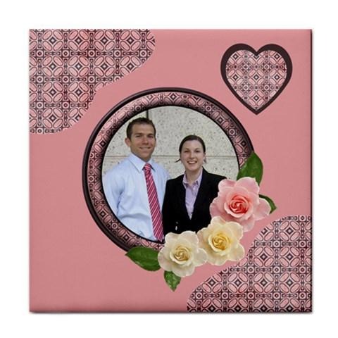Romance Tile Coaster By Deborah   Tile Coaster   1mtkbiwuq3h9   Www Artscow Com Front