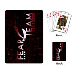 FEAR Team Playing Cards - Playing Cards Single Design