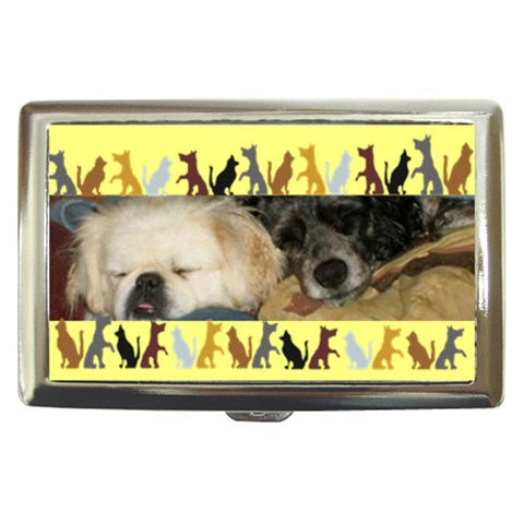 Dog Boarder Cigarette Money Case By Kim Blair   Cigarette Money Case   Y7sosit56r7h   Www Artscow Com Front