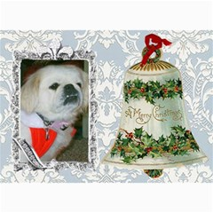 Victorian Christmas Bell Post Card By Kim Blair   5  X 7  Photo Cards   25f1cmbdxeja   Www Artscow Com 7 x5 Photo Card - 7