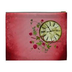 Shabby Rose   Cosmetic Bag (xl)  By Picklestar Scraps   Cosmetic Bag (xl)   5m9gwwabv17r   Www Artscow Com Back
