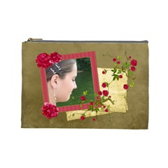 Shabby Rose   Cosmetic Bag (lg)  By Picklestar Scraps   Cosmetic Bag (large)   X7ellmn4wzo2   Www Artscow Com Front