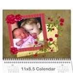 2016 Shabby Rose - Wall Calendar 11x8.5 (12 Mths) - Wall Calendar 11  x 8.5  (12-Months)