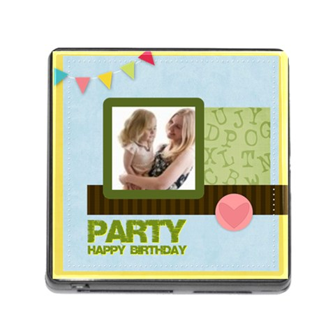 Birthday Party  By Joely   Memory Card Reader (square)   6k23pc15b1r9   Www Artscow Com Front