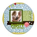 birthday party  - Ornament (Round Filigree)