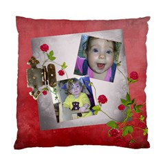 Shabby Rose   Cushion Case (two Sides)  By Picklestar Scraps   Standard Cushion Case (two Sides)   Svt1mnjtq4jz   Www Artscow Com Front