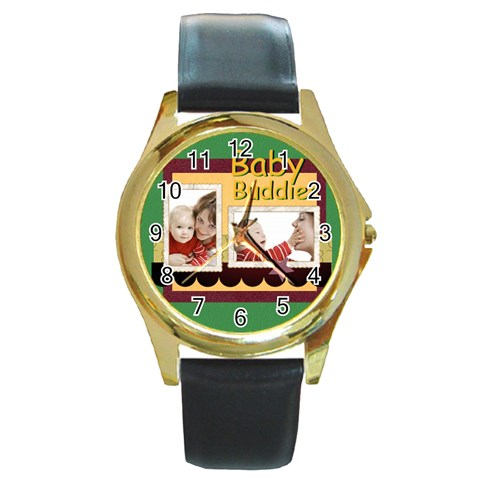 Baby By Joely   Round Gold Metal Watch   3kp4yuzz1hc4   Www Artscow Com Front