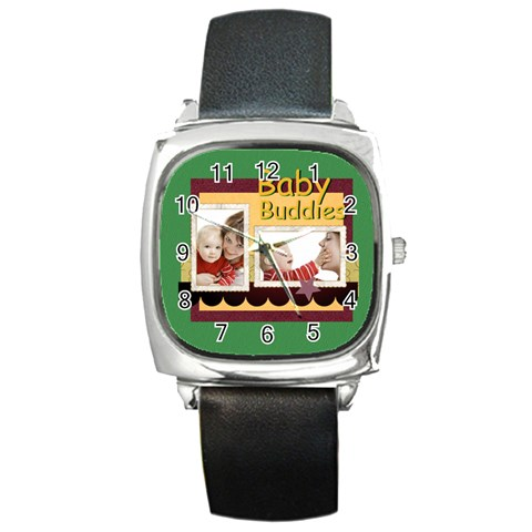 Baby By Joely   Square Metal Watch   Kt2b80m9990v   Www Artscow Com Front