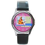 summer - Round Metal Watch