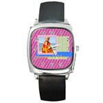 summer - Square Metal Watch
