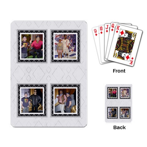 Black And White Playing Cards By Deborah   Playing Cards Single Design   1gph7to5xzk5   Www Artscow Com Back