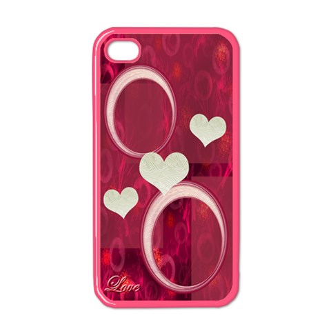 Love Pink Apple Iphone 4 Case  By Ellan   Apple Iphone 4 Case (color)   2c8w9w5q0js5   Www Artscow Com Front