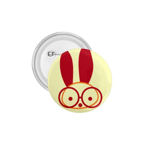 Glasses Bunny Badge By Joyce   1 75  Button   D68tc4vyfg0o   Www Artscow Com Front