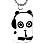 Headphones Panda Dog Tag - Dog Tag (One Side)