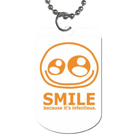 Smile Dog Tag By Joyce   Dog Tag (one Side)   7658s5jt5rfl   Www Artscow Com Front