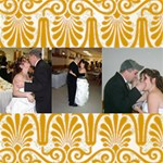 Gold trimmed 12 x 12 canvas - Canvas 12  x 12
