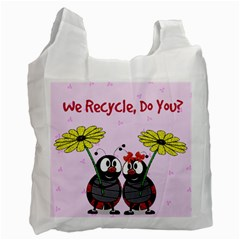 Ladybug Recycle Bag By Kim Blair   Recycle Bag (two Side)   9ymwomunmh0m   Www Artscow Com Front