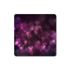 Purple Bokeh Large Sticker Magnet (square) by PurpleVIP