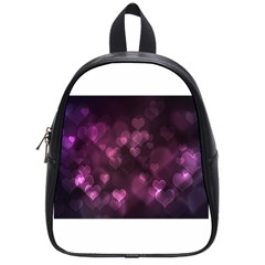Purple Bokeh Small School Backpack by PurpleVIP