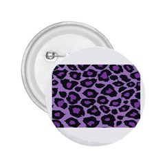 Purple Leopard Print Regular Button (round) by PurpleVIP