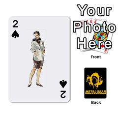 Poker Metal Gear Solid By Rubén   Playing Cards 54 Designs   2c1d1yzrab6z   Www Artscow Com Front - Spade2