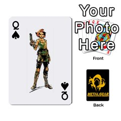 Queen Poker Metal Gear Solid By Rubén   Playing Cards 54 Designs   2c1d1yzrab6z   Www Artscow Com Front - SpadeQ