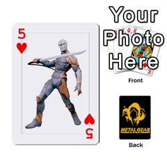 Poker Metal Gear Solid By Rubén   Playing Cards 54 Designs   2c1d1yzrab6z   Www Artscow Com Front - Heart5