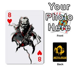 Poker Metal Gear Solid By Rubén   Playing Cards 54 Designs   2c1d1yzrab6z   Www Artscow Com Front - Heart8