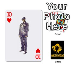 Poker Metal Gear Solid By Rubén   Playing Cards 54 Designs   2c1d1yzrab6z   Www Artscow Com Front - Heart10