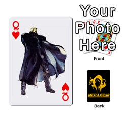 Queen Poker Metal Gear Solid By Rubén   Playing Cards 54 Designs   2c1d1yzrab6z   Www Artscow Com Front - HeartQ