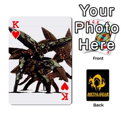 King Poker Metal Gear Solid By Rubén   Playing Cards 54 Designs   2c1d1yzrab6z   Www Artscow Com Front - HeartK