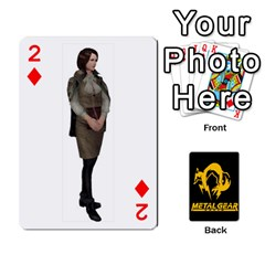Poker Metal Gear Solid By Rubén   Playing Cards 54 Designs   2c1d1yzrab6z   Www Artscow Com Front - Diamond2