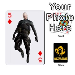 Poker Metal Gear Solid By Rubén   Playing Cards 54 Designs   2c1d1yzrab6z   Www Artscow Com Front - Diamond5