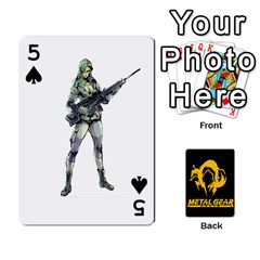 Poker Metal Gear Solid By Rubén   Playing Cards 54 Designs   2c1d1yzrab6z   Www Artscow Com Front - Spade5