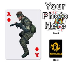 Ace Poker Metal Gear Solid By Rubén   Playing Cards 54 Designs   2c1d1yzrab6z   Www Artscow Com Front - DiamondA