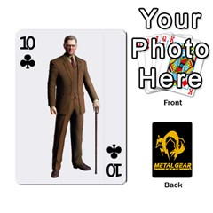 Poker Metal Gear Solid By Rubén   Playing Cards 54 Designs   2c1d1yzrab6z   Www Artscow Com Front - Club10