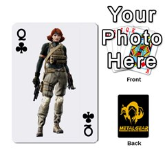 Queen Poker Metal Gear Solid By Rubén   Playing Cards 54 Designs   2c1d1yzrab6z   Www Artscow Com Front - ClubQ